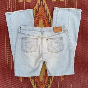 4/$25! Heart Pocket Flare Jeans
